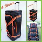 NEW!  Wheeled Duffle Bag Wheel Luggage Overnight Tote Travel Trolley XL 4 Size