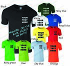 PRINTED T SHIRT PERSONALISED + YOUR TEXT OR SIMPLE SINGLE COLOUR GRAPHIC