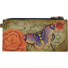 ANNA by Anuschka Hand Painted Leather Credit Card Women's Wallet NEW