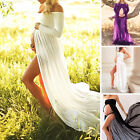 Women Chiffon Gown Maternity Maxi Dress Wedding Party Dresses Photography Props