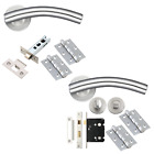 Arched Door Handles Sets Internal Fire Rated Door Packs Stainless Steel