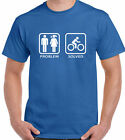 Problem Solved - Mens Funny T-Shirt Bike Cycling Mountain BMX Racer Road Jersey
