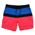 Tommy Hilfiger Mens Swim Trunks Lined Bathing Suit Shorts Velcro Button Fly New
