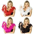 Red, White, Black, Pink, Fuchsia Feather Boa, 50g 150 cm Long Burlesque Flapper