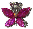 Butterfly Mini Jaw Clip Hairclip w. Beads and Rhinestones P864175-0028