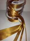 Berisfords Double Faced Satin Ribbon - OLD GOLD (20) - 3 to 70mm various lengths