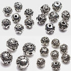 10/20Pcs Tibet Silver Round Shape Symbol Spacer Beads Jewelry Findings DIY 8mm