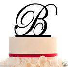CustomWeddingCakeTopper with Personalized Initial, font choice,color+free base