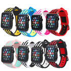For Apple Watch 1 2 3!2017 Multicolor Replacement TPU Wristband Bangle w/Adapter