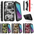 For Samsung Galaxy J3 Eclipse | J3 Mission (2017) Stand Clip or Case Gray Camo