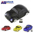 Portable 2.4Ghz VW Beetle Car Wireless Mouse Optical Game Mice + USB Receiver AU