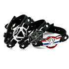 Newlist Iron Man Captain Spider-Man PU Leather Bangles Tribe Bracelet Wristband