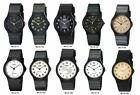 Casio MQ24 Men's Black Resin Band Black White or Gold Dial Casual Analog Watch