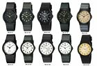 Jewelry Watches - Casio MQ24 Men's Black Resin Band Black White or Gold Dial Casual Analog Watch