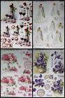 3D A4 Die Cut Paper Tole Decoupage Wine Roses Pansies Wedding Bride No Cutting
