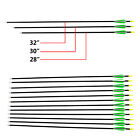 "12x Archery Arrows Fibreglass in 28"" 30"" 32"" Recurve & Compound Bow CARBON GRADE"