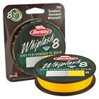 Berkley NEW Whiplash 8 Carrier Braid Crystal / Green / Yellow - 270m/300m Spools