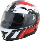 Duchinni D405 XRR Red White Full Face Motorcycle Crash Helmet New RRP £99.99!!