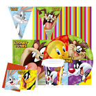 LOONEY TUNES - Kids Birthday Party Range (Tableware Balloons & Decorations)