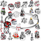 DIY Christmas Charm Pendants Spacer Bead for Sterling Silver Bracelets Necklace