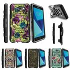 For Samsung Galaxy On7 | J7 Prime | J7 Halo (2017) Clip Holster Case Flowers