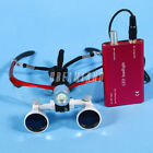 Dental Surgical 3.5x420mm Binocular Loupes Glasses w/ LED Head Light lampada IT