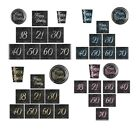 GLITZ FOIL TABLEWARE Decorations - Party/Ranges/18,21,30,40,40,50,60,70