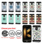 For LG K20 Plus K20 V LV5 M250 Personalized Monogram Letters Brushed Case Cover