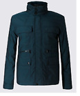 M&S Dark Teal Tailored Fit Jacket with Hidden Hood and Stormwear S...