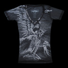 Affliction THE PRIZE Womens V-Neck Top S NWT NEW T-Shirt Skull