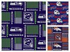 NFL Football Team Seahawks Bills Broncos Quilting Cotton Fabric ONE YARD PIECE