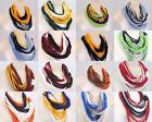*16 COLORS Handmade Cotton Infinity SCARF Circle noodle Scarf Necklace Women