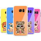 Animals Wearing 3D Glasses Eating Popcorn Case Phone Cover for Samsung Phones
