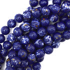 "Synthetic Lapis Blue Sea Sediment Jasper Round Beads 15.5"" 4mm 6mm 8mm 10mm 12mm"