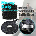9m - 12m - 15m - 18m - 20m - Heavy Duty Battle Rope / Power Rope - 38mm Diameter