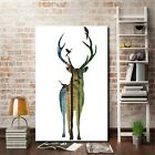 Unframed Deer Forest Canvas Wall Art Print Oil Painting Home Decor