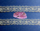 "Lace Trim Ecru 1 - 50 Yards x 5/8"" Floral By The Yard D04V Added Trims ShipFree"