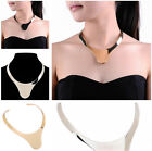 Fashion Statement Shiny Metal Alloy Gold Silver Chain Bib Collar Choker Necklace