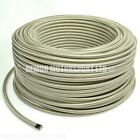 1m x PTFE Teflon Lined Stainless Braided Hose SELECT SIZE Fuel Oil Fluid Petrol