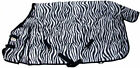 600D Winter Horse Turnout Blanket 300g fill Water Proof Rip Stop Zebra Print