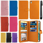"For Sony Xperia XA Ultra 6"" Flip Card Holder Wallet Cover Case Wrist Strap + Pen"