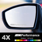 BMW M PERFORMANCE Wing Mirror Glass Silver Frosted Etched Car Decal Stickers