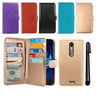 For Motorola Droid Turbo 2 Kinzie XT1585 Flip Wallet Cover Case Wrist Strap +Pen
