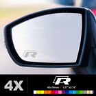 VW R LINE GOLF TIGUAN Wing Mirror Glass Silver Frosted Etched Car Decal Stickers