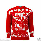 New Unisex Men Women Ladies  Christmas Jumper Snowflake Christmas Jumper