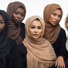 New Cotton Linen Crinkle Cloud Hijab Scarf Shawl Soft Islam Muslim Scarves Stole