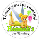 TINKERBELL BIRTHDAY PARTY FAVORS STICKERS LOLLIPOP LABELS - 2 INCHES EACH