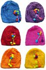 Bella Toddler Knitted Bonnets Baby Girl Hats in Set of 6 and Dz Pk U16250-6412-6