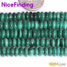 Natural Green Malachite Stone Rondelle Heishi Spacer Beads For Jewelry Making 15