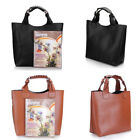 Women Lady Retro Style Adjustable Celebrity Tote Shopping Hand Bag Brown Black